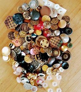 Large vintage button lot